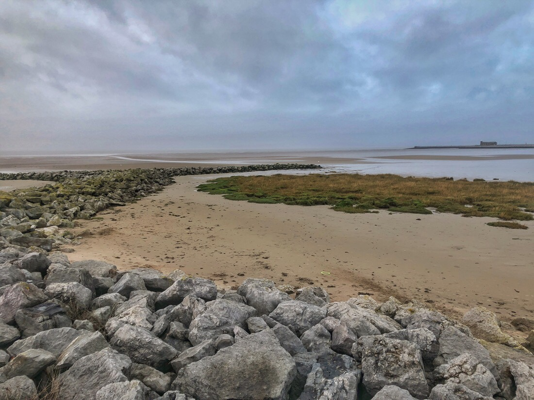 Morecambe Bay on the Lancashire Coast in the north west of England