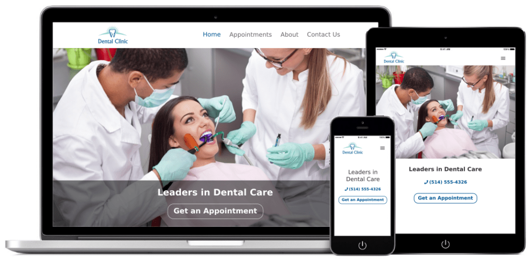 dental center web design