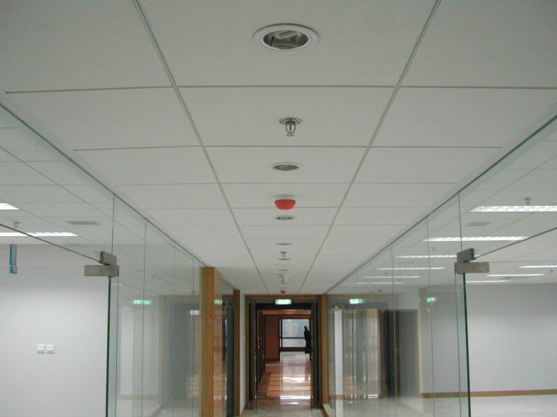 acoustical hallway ceiling