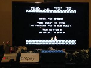 Super Mario Bros Ending Screen
