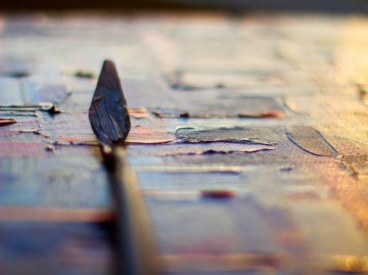 道具についた、乾燥後の絵の具の落とし方