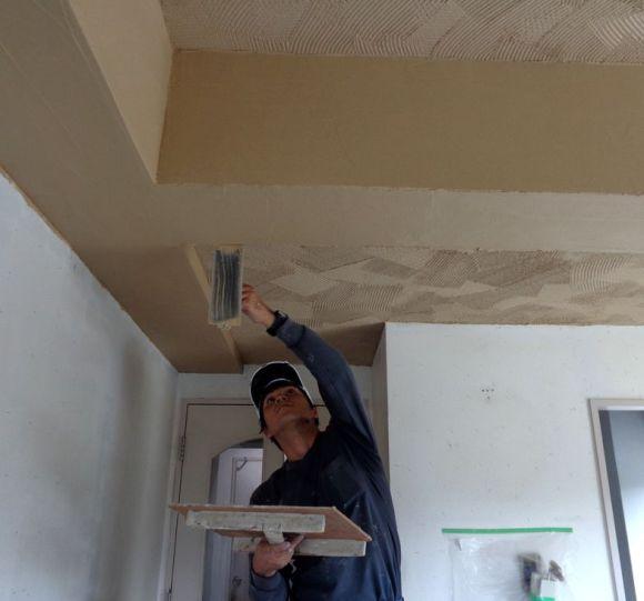 天井の珪藻土塗り
