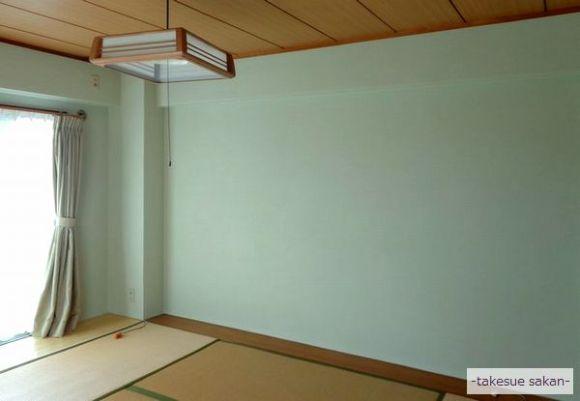 和室壁の珪藻土塗り替え