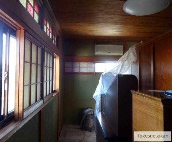 奈良・古いじゅらく塗りの和室壁