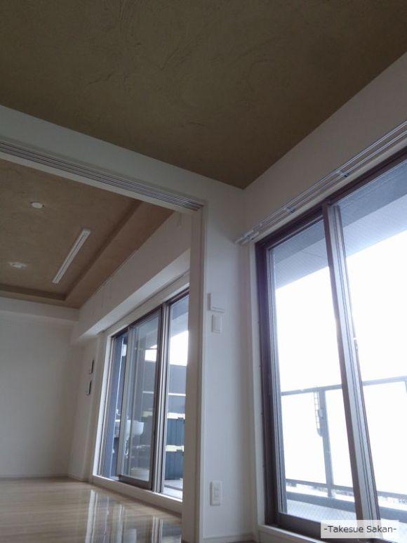 奈良 新築マンションの天井 珪藻土