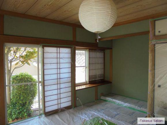 戸建て住宅・和室壁のビフォー