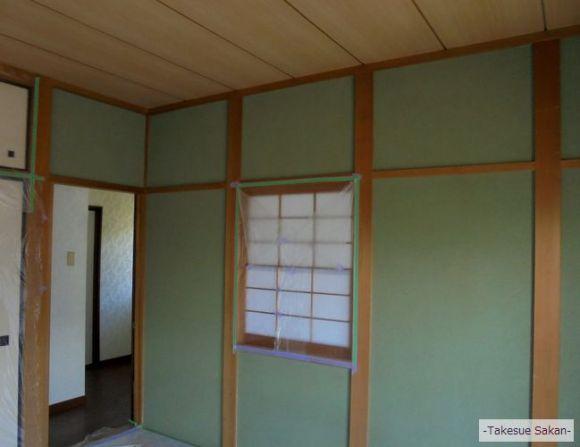 戸建て住宅 階段壁 ビフォー