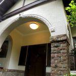 玄関 漆喰の天井