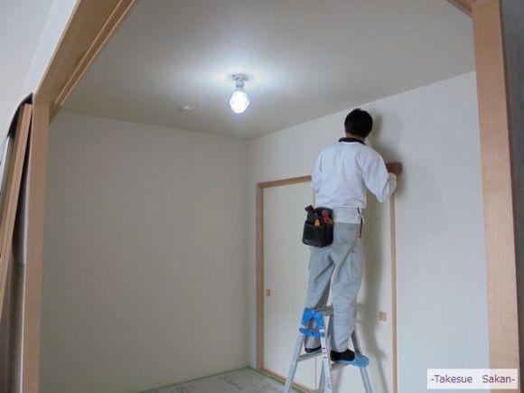 伊丹 新築マンション 和室 天井と壁 クロス張り
