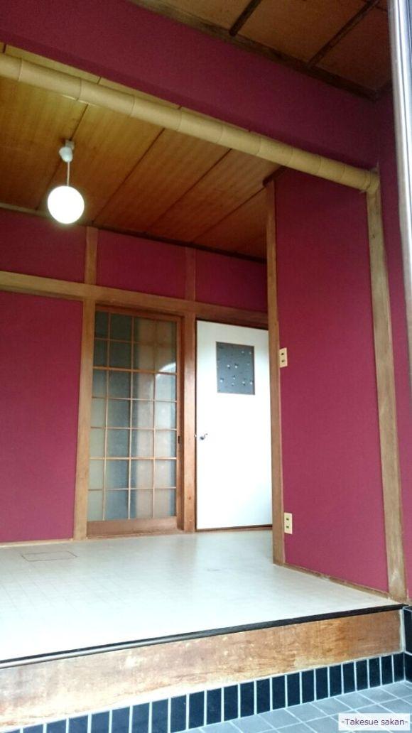 奈良 玄関塗り替え ジュラクサンド明