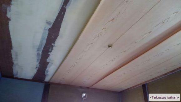 天井のクロス張り