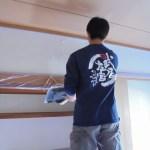 武居左官の壁塗り