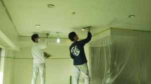 マンションの珪藻土塗り
