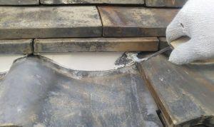 屋根専用に作られた漆喰