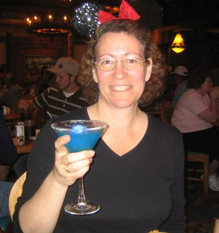 January 2008 celebrating at Disney World after reaching goal