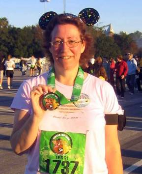 After finishing my 5k race in Jan 2009