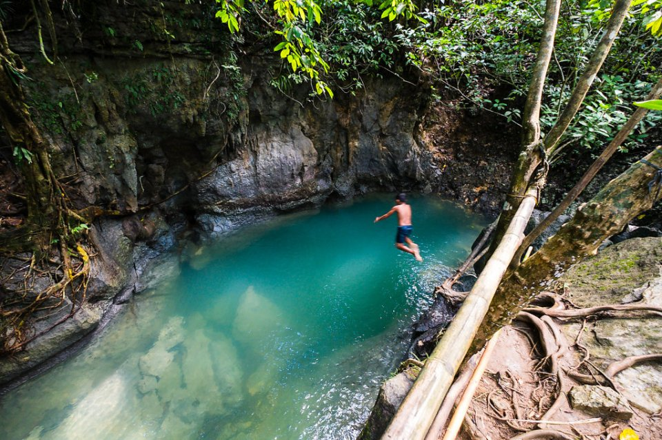 tayangban cave and lagoon, philippines