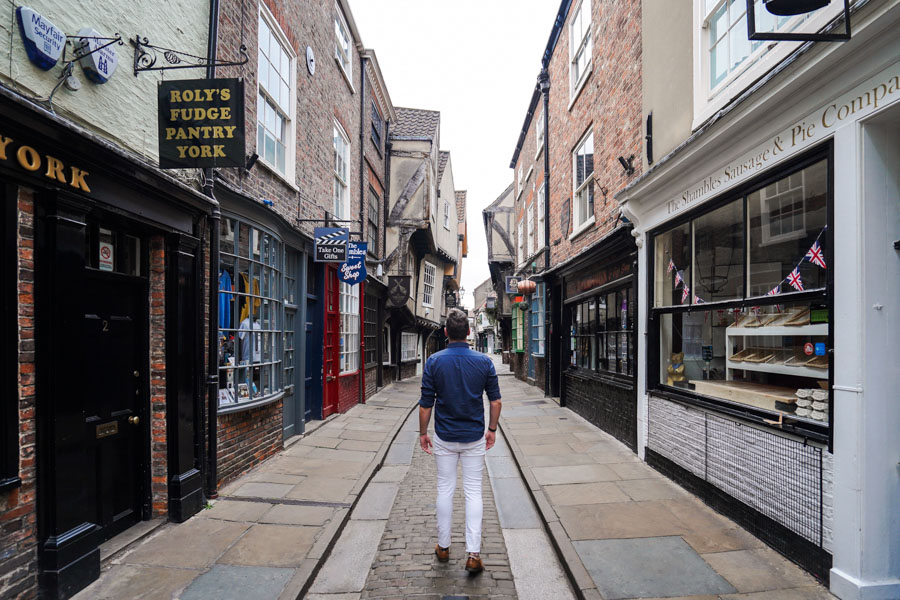 The Shambles, York, Yorkshire, England, UK
