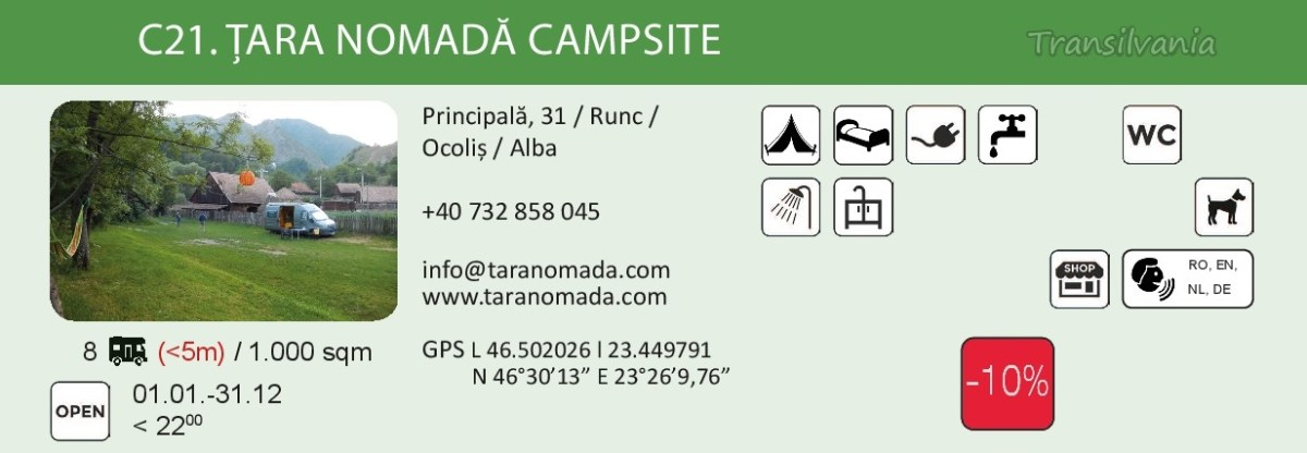 #campsitesinromania2019