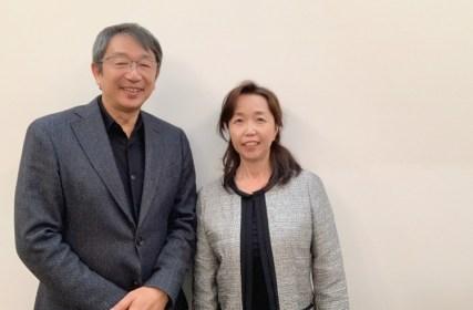 竹内代表と近藤ふみこカウンセラー