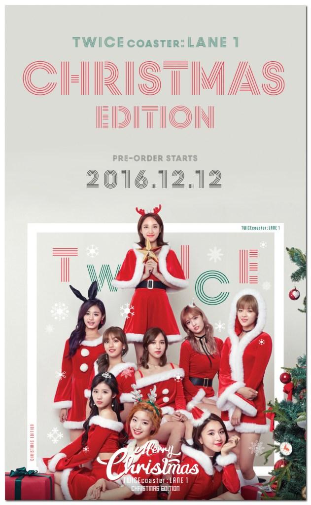 サンタに扮したTWICEクリスマスエディションTT楽天12月12日限定予約発売開始!サイン入りCD届いた!
