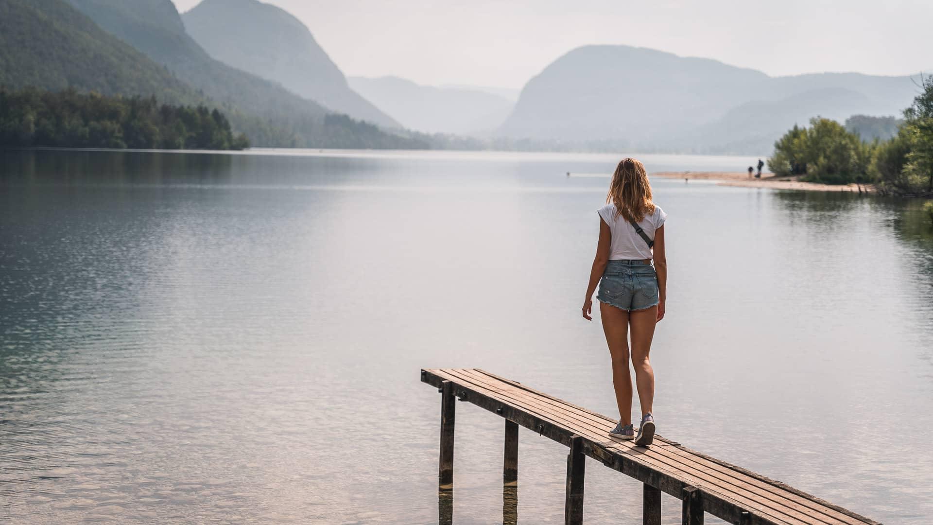 Jezioro Bohinj w Słowenii