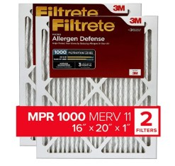 Air filter comparison chart