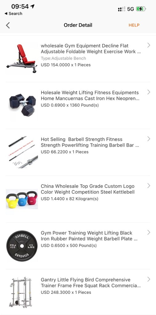 تجربة شراء ناجحة من علي بابا Alibaba نادي منزلي متكامل Home Gym2