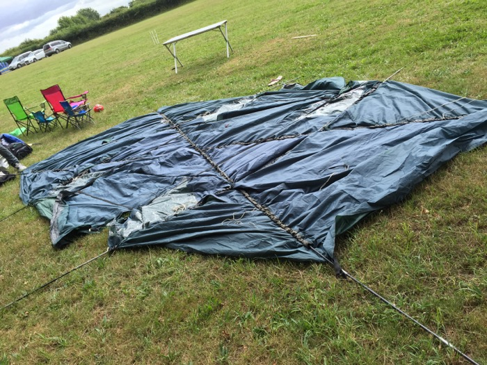 camping - putting up the tent