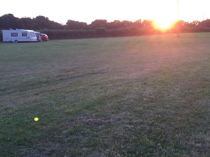 the quiet camping field