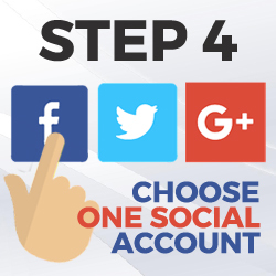 choose one social account