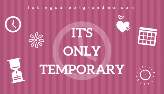 """It's only temporary"""