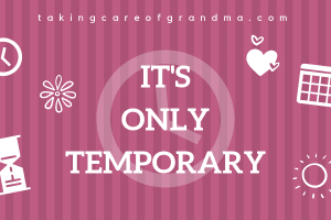"""""""It's only temporary"""""""