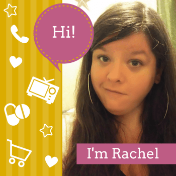 "Graphic: Talk bubble says ""Hi!"", with a photo of Rachel, the author, and text at the bottom of the photo that says, ""I'm Rachel"""
