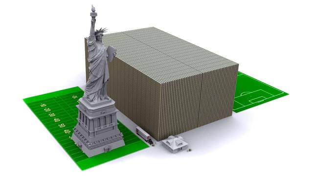 one trillion dollars stacked