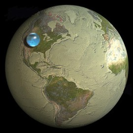 our water planet has actually very little water