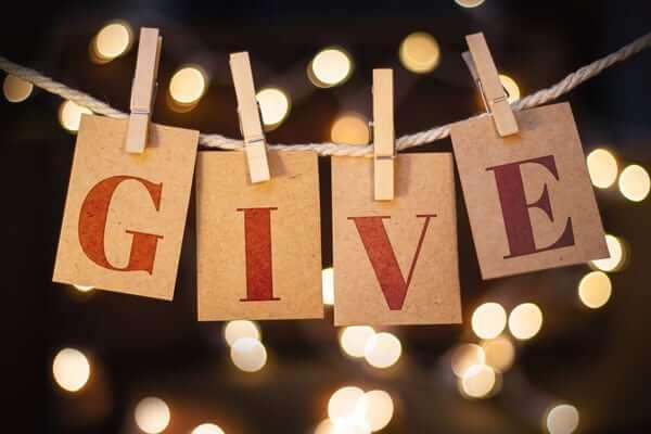 Give for selfish reasons
