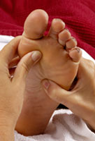 massage of foot
