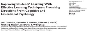Effective Learning Techniques