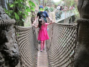 Our girl is so brave! I was terrified of this bridge when I was little.