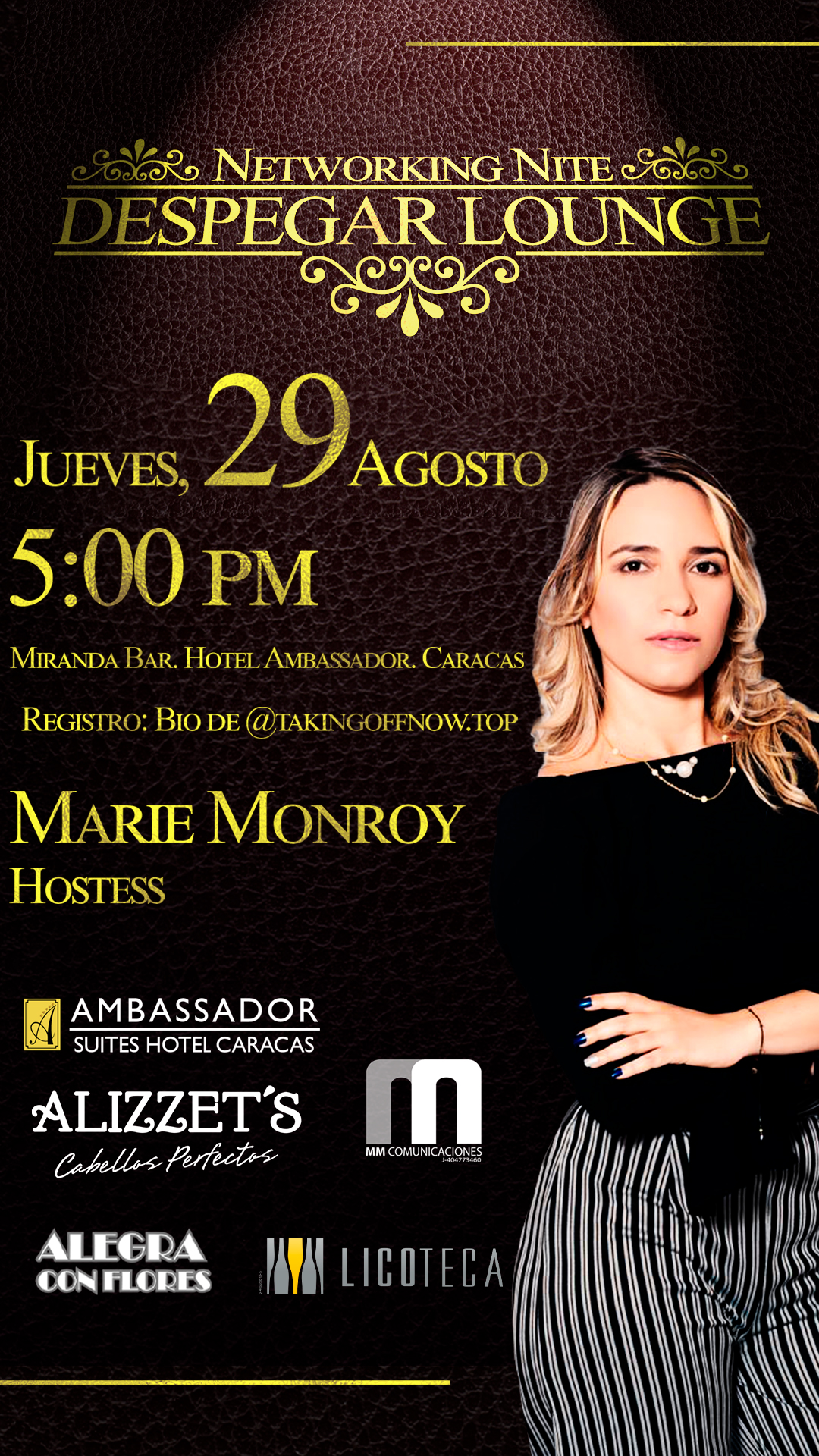 Despegar Lounge Networking Nite Marie Monroy MM comunica