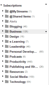 My Google Reader Categories