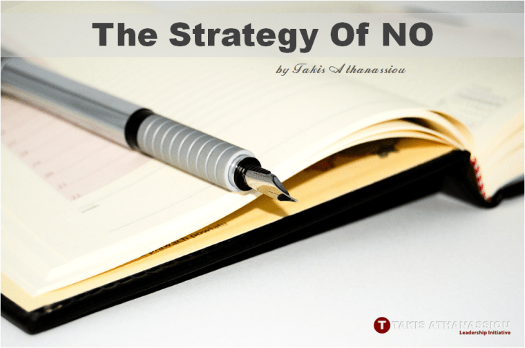 The Strategy Of NO