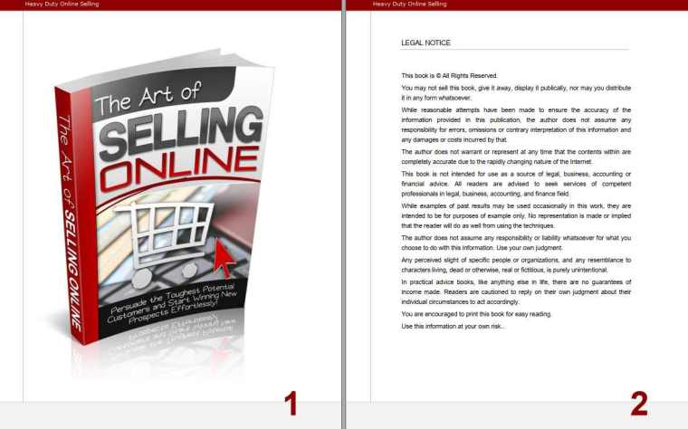 The Art Of Selling Online Pages