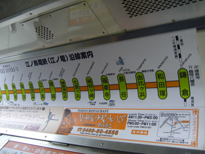 Train route in the Enoden
