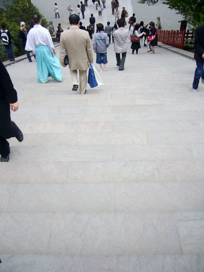 View of the steps