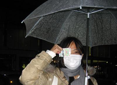 Mich in rainy Kyoto