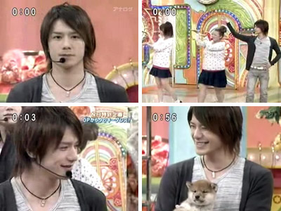 Takizawa Hideaki Iitomo with Puppy