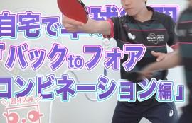 自宅で卓球練習「バックtoフォア コンビネーション編」
