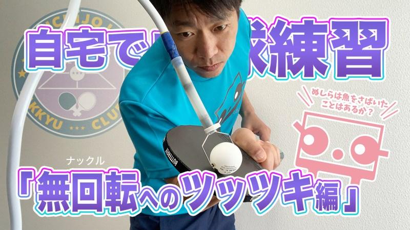 自宅で卓球練習「無回転(ナックル)へのツッツキ編」